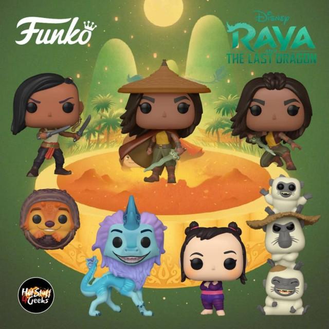 Raya e o Último dragão ganham figuras Funko Pop